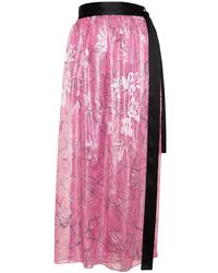 Roses Are Red Avery Silk Wrap-skirt - Pink