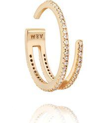 Astrid & Miyu - The Wishbone Ring In Gold - Lyst