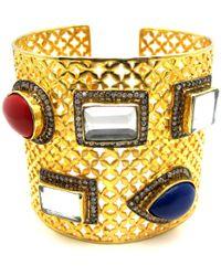 Meghna Jewels Wide Envy Cuff Bracelet - Metallic