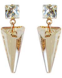 Nadia Minkoff Crystal Shard Earring Golden Shadow & White Patina - Metallic