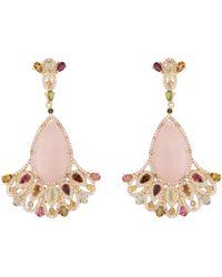 Carousel Jewels Tourmaline & Topaz Statement Earrings - Metallic