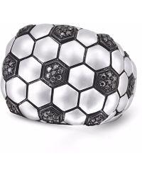 LMJ - Kick & Goal Soccer Head Ring - Lyst
