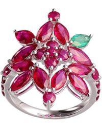 Joana Salazar - Ruby Blossom Ring - Lyst