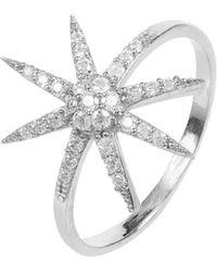 LÁTELITA London - Star Burst Ring Silver - Lyst