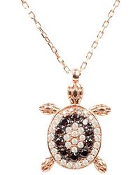 LÁTELITA London Turtle Chocolate Pendant Necklace Pink Rose Gold - Multicolour
