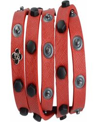 STYLESTRING Multi Functional Accessory Matte Black On Red