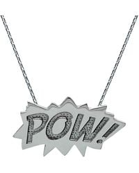 Edge Only | Pow Pendant Large Long In Silver | Lyst