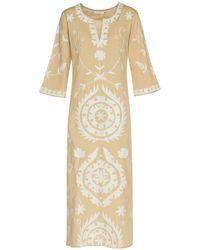 ADA KAMARA Long Suzanni Beige Dress - Natural