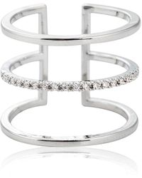 Astrid & Miyu - Triple Bewitched Ring In Silver - Lyst