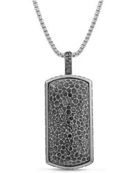 LMJ Fossil Agate Stone Tag - Gray