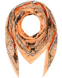Klements Large Square Scarf In Chihuahuan Desert Print - Multicolour