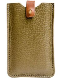 N'damus London - Iphone Sleeve Olive - Lyst