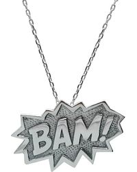 Edge Only - Bam Pendant Extra Large In Silver - Lyst
