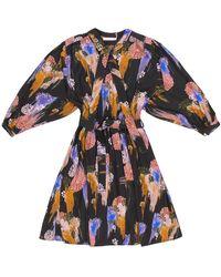 TOMCSANYI Marta Gloomy Flower Print Dress - Multicolour