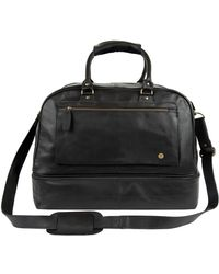 MAHI - Large Leather Raleigh Holdall Bag With Under Compartment In Black - Lyst