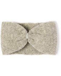 Alma Knitwear - Daphne Alpaca Silk Earwarmer Grey - Lyst