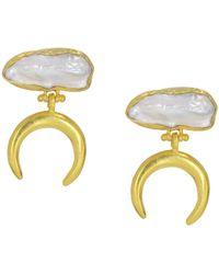 Ottoman Hands Luna Baroque Pearl Drop Earrings - Multicolor