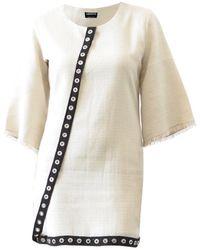 ARSHYS Tweed Eyelet Dress - Natural