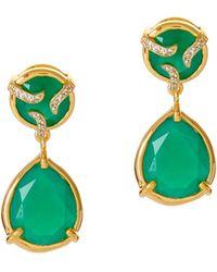 Alexandra Alberta - Yosemite Green Chalcedony Earrings - Lyst
