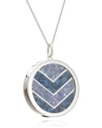 Rachel Jackson London - Large Love Chevron Amulet In Silver - Lyst