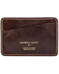 Maxwell Scott Bags - The Alberi Small Men's Italian Leather Card Holder Chocolate Brown - Lyst