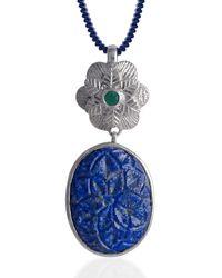 Emma Chapman Jewels Bodhi Lapis Lazuli Pendant - Blue