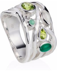 Neola - Liana Sterling Silver Ring Peridot & Green Onyx & Green Amethyst - Lyst
