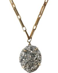 Tiana Jewel Limited Edition Pyrite Gemstone Necklace Gold - Metallic