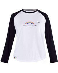 blonde gone rogue - Rainbow Vegan Long Sleeve T-shirt In White - Lyst