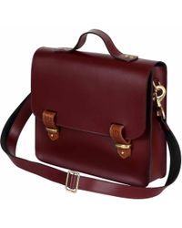 N'damus London - Lombard Oxblood Leather Three Way Briefcase Satchel & Backpack - Lyst