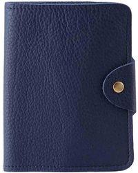 N'damus London - Luxury Italian Leather Blue Passport Cover - Lyst