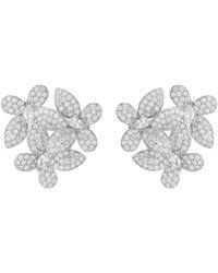 LÁTELITA London Flowers Large Stud Earrings Silver - Metallic