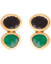Carousel Jewels - Green & Black Onyx Drop Earrings - Lyst