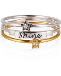 Lee Renee - Tiny Star Ring White Sapphire & Silver - Lyst