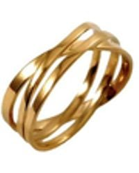 MARIE JUNE Jewelry - Coil Gold Ring - Lyst
