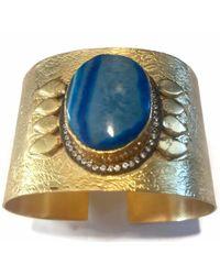Meghna Jewels Druzy Cuff - Blue