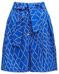 TOMCSANYI Baing High Waisted Shorts - Blue