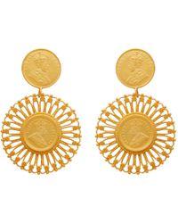 Carousel Jewels - Matte Antique Coin Vermeil Earrings - Lyst