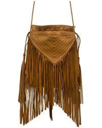 Lilla Lane Texas Fringe Crossbody Bag - Brown