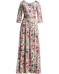 MATSOUR'I Aurora Dress Gold Floral - Multicolour