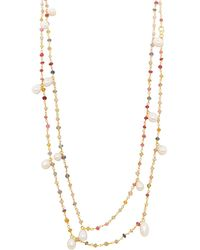 Carousel Jewels - Mixed Gemstones & Pearl Necklace - Lyst