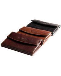 Maxwell Scott Bags - Luxury Italian Leather Purse Fontanelle Dark Chocolate Brown - Lyst