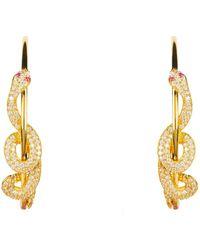 LÁTELITA London Cleopatra Serpent Snake Hoop Earrings Gold - Metallic