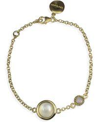 Vintouch Italy Satellite Gold Vermeil Moonstone & Opal Bracelet - Metallic