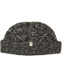 40 Colori - Charcoal Melange Wool & Cashmere Fisherman Beanie - Lyst