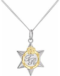 True Rocks - Mini Two Tone Star Medal Silver & Gold - Lyst