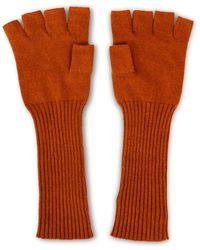 Asneh Brown Fallon Silk Cashmere Fingerless Gloves