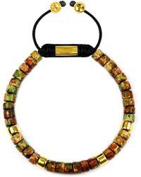Clariste Jewelry - Men's Ceramic Bead Bracelet Brown Graffiti - Lyst