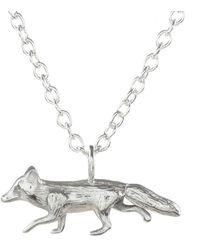 Lucy Flint Jewellery Fox Necklace Sterling Silver - Metallic