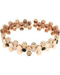 Cosanuova Rose Gold Plated Sterling Silver Honeycomb Bee Bracelet - Metallic